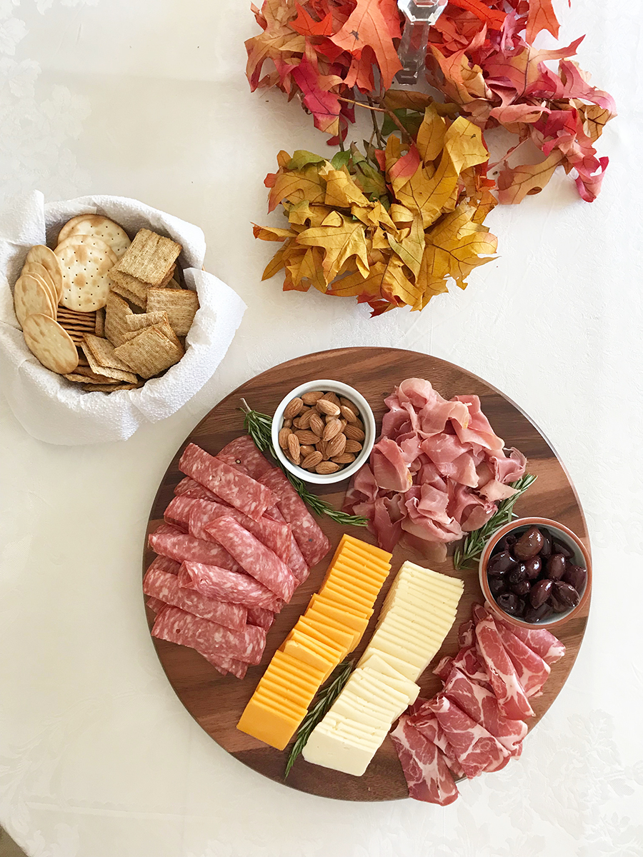 charcuterie board for entertaining
