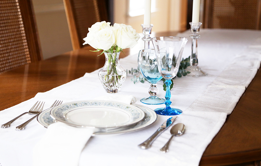 Set your everyday table with fine china for a more enjoyable meal